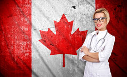 Doctor and canada flag Stock Photo