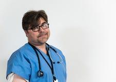 Doctor cansado Foto de archivo libre de regalías