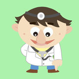 Doctor ,Cartoon Character, refers to the bottom Stock Photography