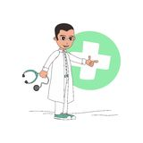 Doctor cartoon character Stock Images