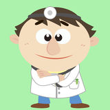 Doctor ,Cartoon Character, Vector Illustration Stock Images