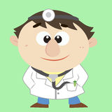 Doctor ,Cartoon Character, Vector Illustration Stock Photography