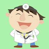 Doctor ,Cartoon Character, Vector Illustration Royalty Free Stock Photo