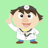 Doctor ,Cartoon Character, Vector Illustration Stock Image