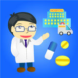 doctor cartoon cute character Royalty Free Stock Image