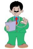 Doctor cartoon illustration stock image