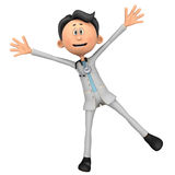 Doctor cartoon spread Stock Images