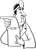 Doctor cartoon Vector Clipart Royalty Free Stock Image