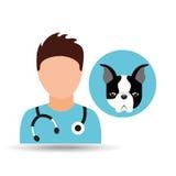 Doctor cartoon veterinarian dog french bulldog Stock Photos