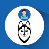 Doctor cartoon veterinarian dog siberian Royalty Free Stock Images