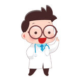 Doctor. Cartoon Of Young Male Doctor In White Coat, Idea Concept With Character Design, Vector Illustration 10 EPS royalty free illustration