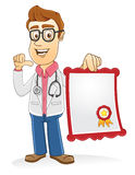 Doctor - certificate Stock Photography