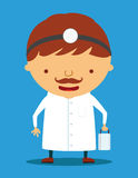 Doctor character. Character of doctor in blue Royalty Free Stock Image