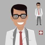 Doctor character. Cartoon illustration. Doctor character  isolated. Man cartoon illustration Stock Photos