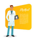 Doctor character man image Royalty Free Stock Image