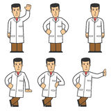 Doctor character set 01. Set of medical worker in different poses Stock Photos
