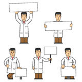 Doctor character set 02 Royalty Free Stock Photography