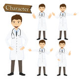 Doctor character set vector illustration Stock Photos