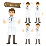 Doctor character set vector illustration Royalty Free Stock Image
