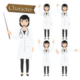 Doctor character set vector illustration Royalty Free Stock Images