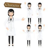Doctor character set vector illustration Royalty Free Stock Photo
