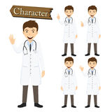 Doctor character set vector illustration Stock Photo