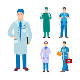 Doctor character vector isolated Stock Photos