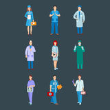 Doctor character vector isolated Royalty Free Stock Images