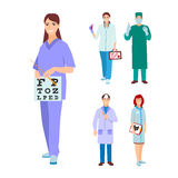 Doctor character vector isolated Royalty Free Stock Photography