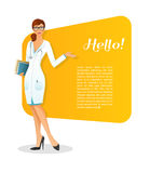 Doctor character woman image Royalty Free Stock Photography