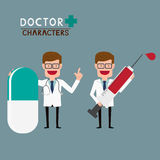 Doctor characters Royalty Free Stock Photos