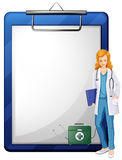 A doctor with a chart Royalty Free Stock Image