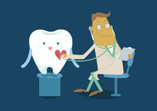 The doctor check checkup tooth Stock Photo