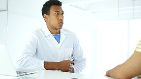 Doctor checking patient with stethoscope, examining health. 4k, high quality stock footage