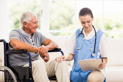 Doctor checking patients health Stock Photo
