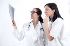 Doctor checking X-ray image Royalty Free Stock Images