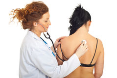 Doctor checkup back woman Stock Image