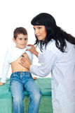 Doctor checkup lovely child Stock Photography