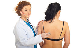 Doctor checkup patient woman Royalty Free Stock Image