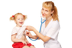 Doctor and child. Royalty Free Stock Photos
