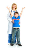 Doctor and a child Royalty Free Stock Images