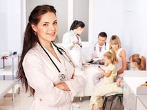 Doctor with child in hospital. Stock Image
