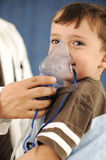 Doctor, child, inhaler mask for breathing, Royalty Free Stock Images