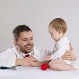 Doctor and child Royalty Free Stock Photo