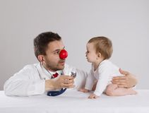 Doctor and child Stock Photo
