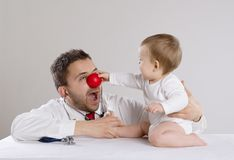 Doctor and child Royalty Free Stock Images