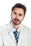 Doctor chocado Imagenes de archivo