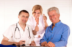 Doctor and citizens Royalty Free Stock Image