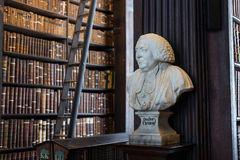 Doctor Clement bust in Trinity College Royalty Free Stock Photography