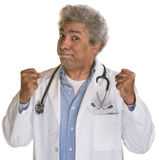 Doctor with Clenched Fists Stock Photography